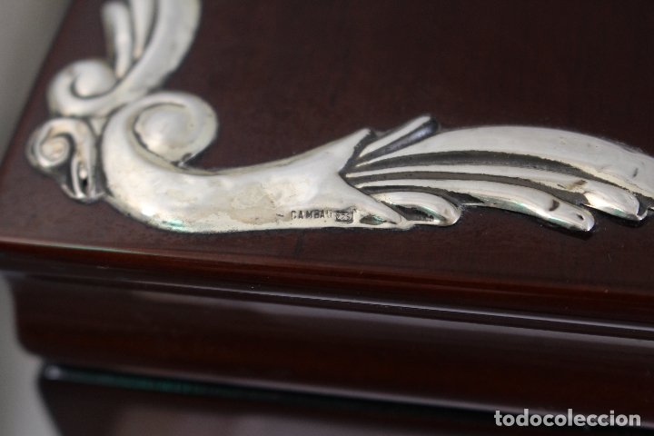 Antigüedades: caja joyero marca cambau en plata de ley 925milesimas - Foto 12 - 176039990
