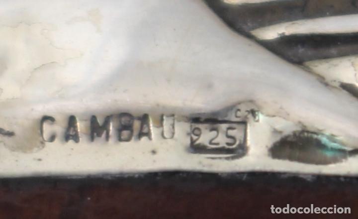 Antigüedades: caja joyero marca cambau en plata de ley 925milesimas - Foto 15 - 176039990