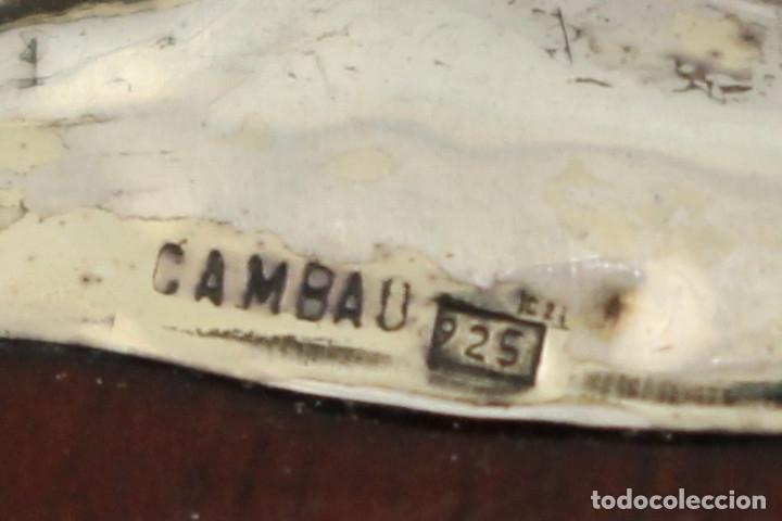 Antigüedades: caja joyero marca cambau en plata de ley 925milesimas - Foto 14 - 176039990