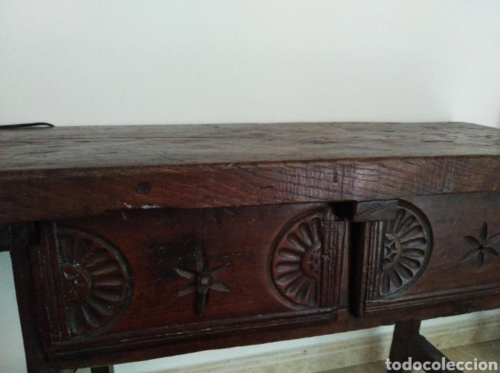 Antigüedades: MESA CASTELLANA. MADERA. PRINCIPIOS S.XX - Foto 2 - 165593318
