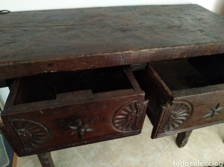 Antigüedades: MESA CASTELLANA. MADERA. PRINCIPIOS S.XX - Foto 4 - 165593318