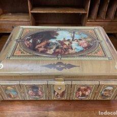 Antigüedades: MARAVILLOSA CAJA DE CHAPA. Lote 165599658
