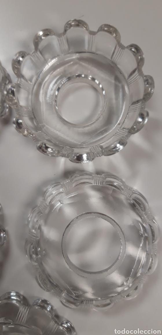 Antigüedades: Lote de repuestos antiguos de cristal para lampara - Foto 2 - 165620274