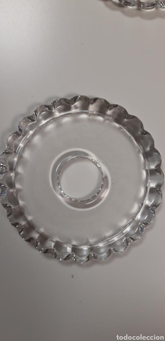 Antigüedades: Lote 4 repuestos de cristal para lámpara - Foto 2 - 165620484