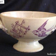 Antigüedades: RARA SALSERA O CUENCO PICKMAN Y CA FINAL SIGLO XIX. Lote 165620890
