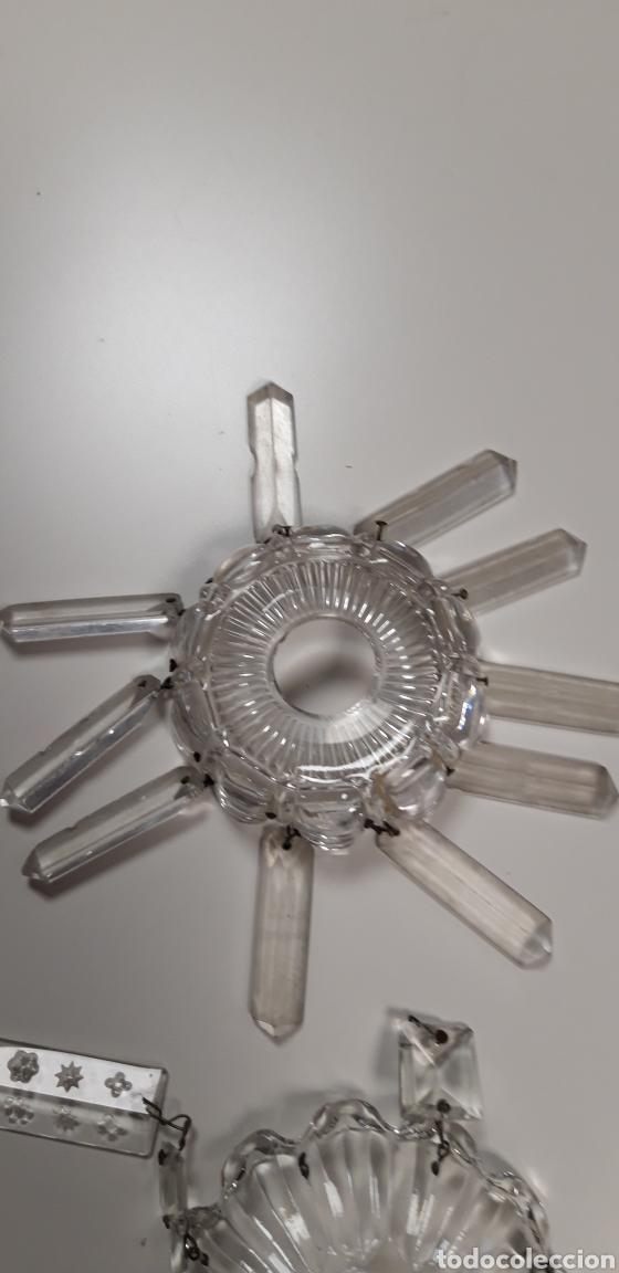 Antigüedades: Lote repuesto para lámpara de cristal - Foto 2 - 165620992