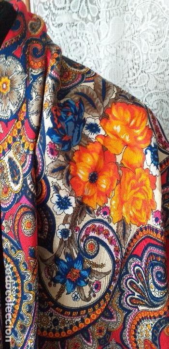 Antigüedades: mantón pañuelo indumentaria regional folclore - Foto 4 - 165621550
