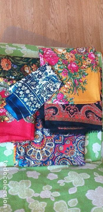 Antigüedades: mantón pañuelo indumentaria regional folclore - Foto 6 - 165621550