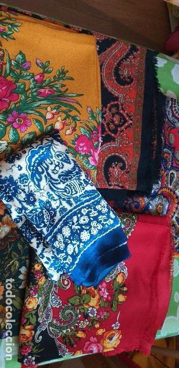 Antigüedades: mantón pañuelo indumentaria regional folclore - Foto 7 - 165621550