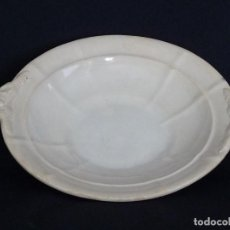 Antigüedades: BASE DE LEGUMBRERA BLANCA DE CERAMICA DE CARTAGENA. . Lote 165621570