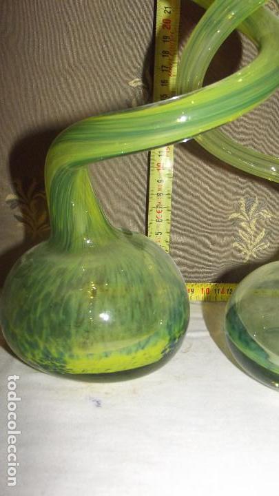 Antigüedades: JARRON, FLORERO,BUCARO CRISTAL MURANO - Foto 4 - 165635822