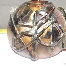 Antigüedades: CENTRO MESA EN CRISTAL DE MURANO Y COBRE. Lote 165637150