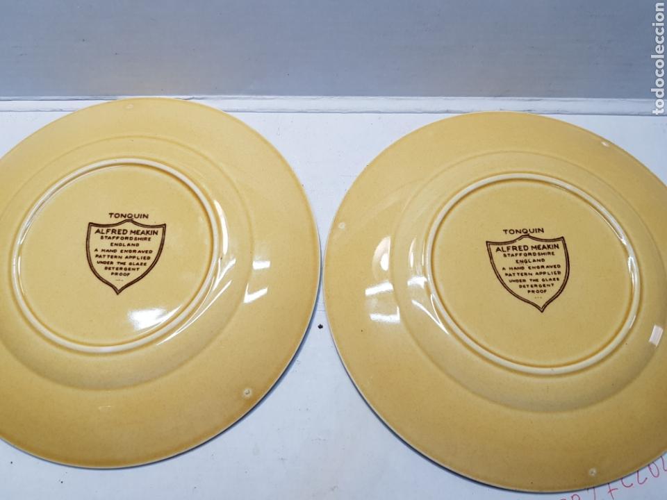 Antigüedades: Platos cerámica Tonquin England lote 2 - Foto 2 - 165642662