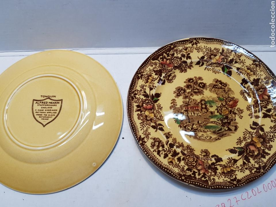 Antigüedades: Platos cerámica Tonquin England lote 2 - Foto 3 - 165642662