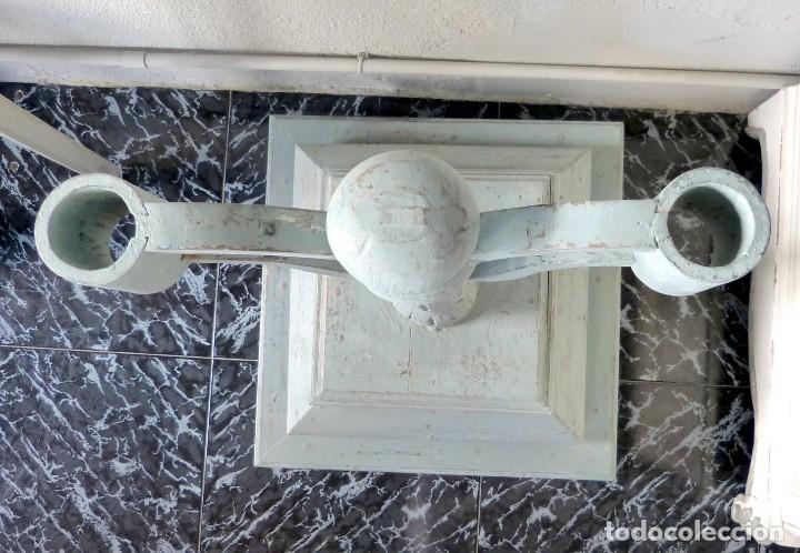 Antigüedades: Soporte de cirios o estandartes del Siglo XIX - Foto 4 - 165646066