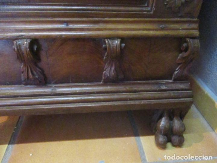 Antigüedades: Pareja de Arcas Barrocas - Caja, Baúl, Arcón Catalán - Madera de Nogal - S. XVIII - Foto 5 - 165647878