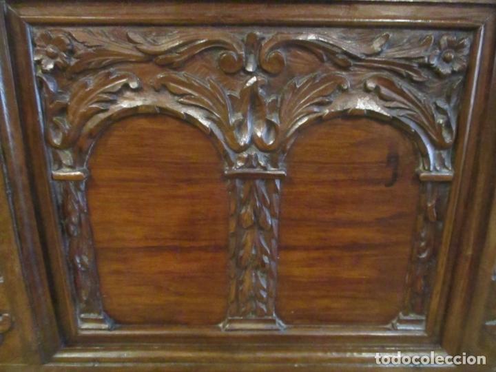 Antigüedades: Pareja de Arcas Barrocas - Caja, Baúl, Arcón Catalán - Madera de Nogal - S. XVIII - Foto 6 - 165647878