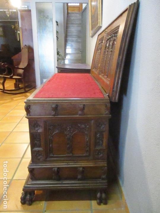 Antigüedades: Pareja de Arcas Barrocas - Caja, Baúl, Arcón Catalán - Madera de Nogal - S. XVIII - Foto 11 - 165647878