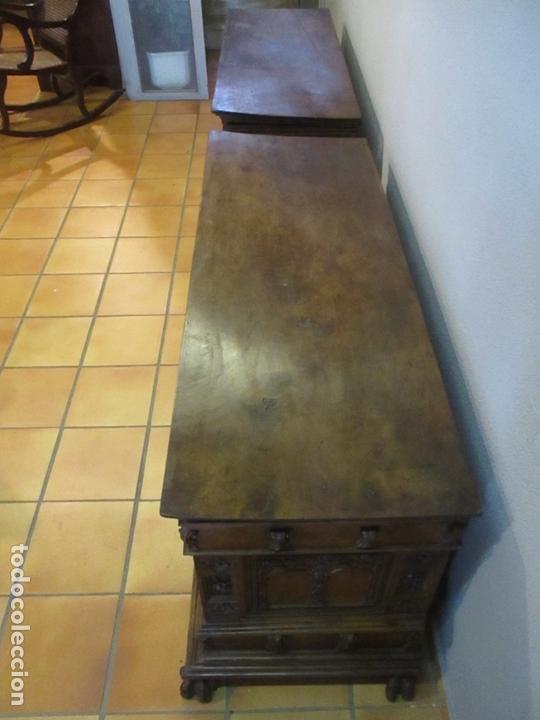 Antigüedades: Pareja de Arcas Barrocas - Caja, Baúl, Arcón Catalán - Madera de Nogal - S. XVIII - Foto 13 - 165647878