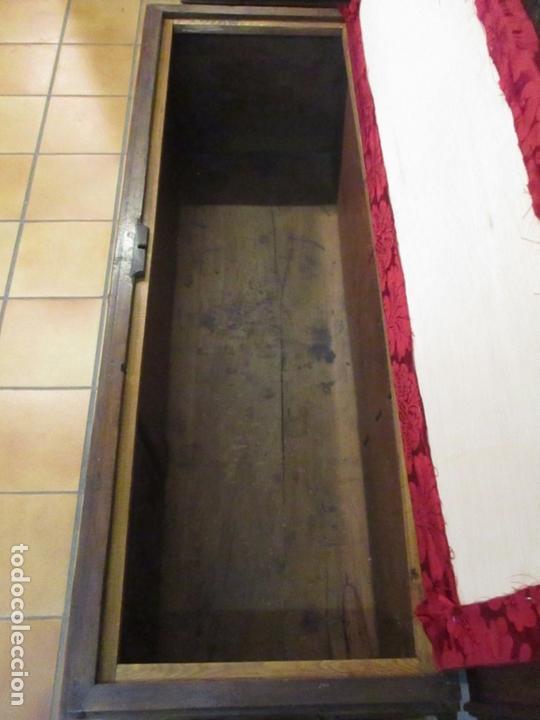 Antigüedades: Pareja de Arcas Barrocas - Caja, Baúl, Arcón Catalán - Madera de Nogal - S. XVIII - Foto 14 - 165647878