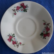 Antigüedades: PORCELANA CHINA PLATO DECORADO ROSAS. Lote 165650170