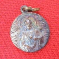 Antigüedades: MEDALLA DE LA VIRGEN DEL PILAR Y EL SAGRADO CORAZÓN DE JESÚS . Lote 165653422