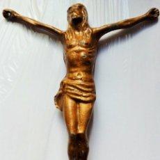 Antigüedades: CRISTO PARA CRUZ. METAL BRONCEADO. 17CM. 207 GRS.. Lote 165660150