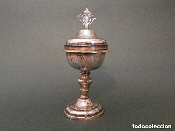 Antigüedades: IMPORTANTE COPÓN BARROCO DEL SIGLO XVIII CON INSCRIPCIONES Y ESCUDO ¡Ver fotos! - Foto 10 - 165664522