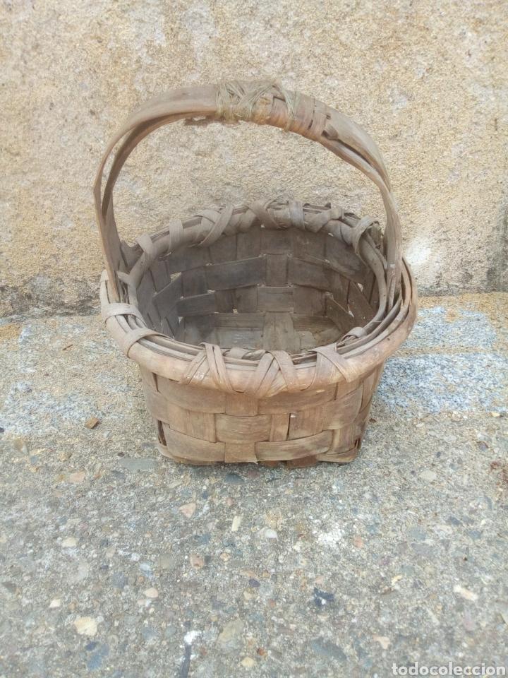 CESTA ANTIGUA DE CASTAÑO (Antigüedades - Técnicas - Rústicas - Agricultura)