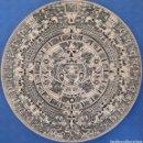 Antigüedades: CALENDARIO AZTECA BAJO RELIEVE RESINA. Lote 165675225