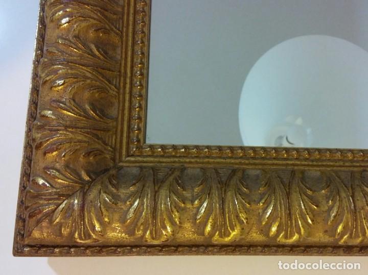 Antigüedades: ESPEJO VINTAGE CON MARCO DORADO - Foto 4 - 165681186