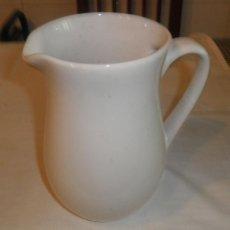 Antigüedades - jarra de ceramica blanca vidriada - 165683674