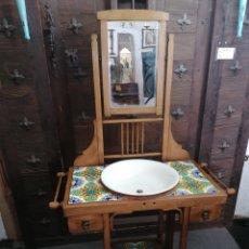 Antigüedades: PALANCALERO DE MADERA DE HAYA EN BUEN ESTADO. Lote 165713712
