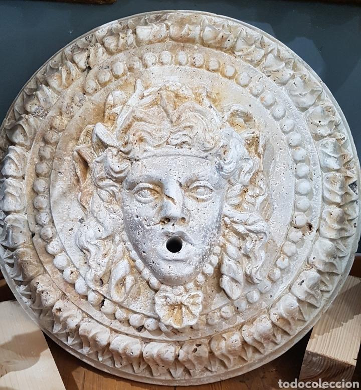 MASCARON DE MÁRMOL TRAVERTINO (Antigüedades - Varios)