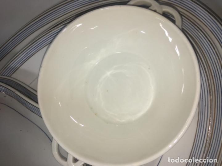 Antigüedades: Original antiguo Lote colección vajilla porcelana San Claudio - Foto 16 - 165732954