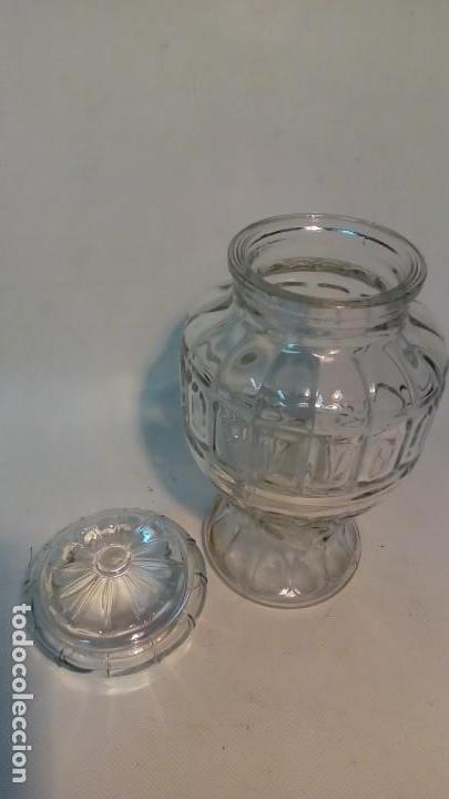 Antigüedades: frasco de vidrio prensado- - Foto 2 - 165655302