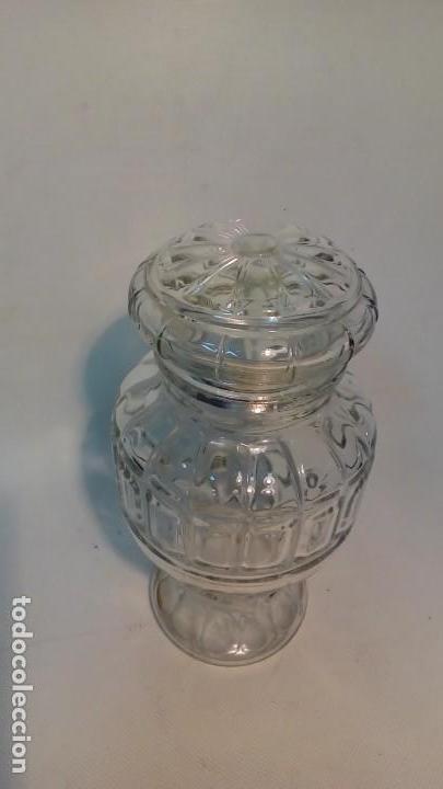 Antigüedades: frasco de vidrio prensado- - Foto 3 - 165655302