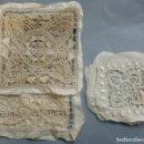 Antigüedades: 6 ANTIGUOS APLIQUES DE ENCAJE - PRINCIPIOS S.XX. Lote 165736490