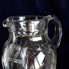 Antigüedades: JARRA CRISTAL TALLADO . Lote 165745854