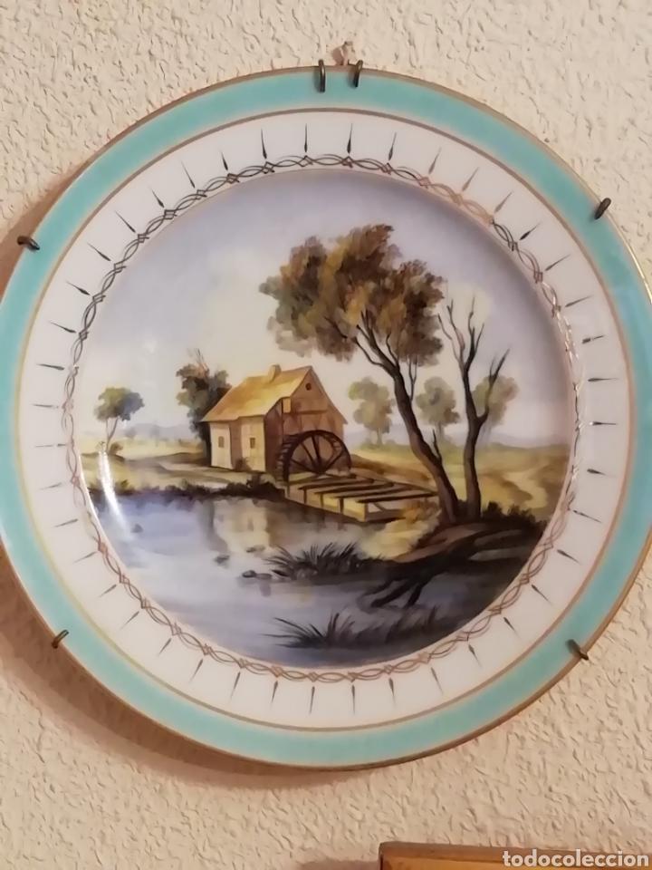 PAREJA DE PLATOS EN PORCELANA ALEMANA SIGUIENDO A MEISSEN SIGLO XIX PERFECTOS (Antigüedades - Porcelanas y Cerámicas - Algora)