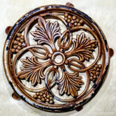 Antigüedades: SALVAMANTELES DE HIERRO FUNDIDO ESMALTADO. Lote 165760458