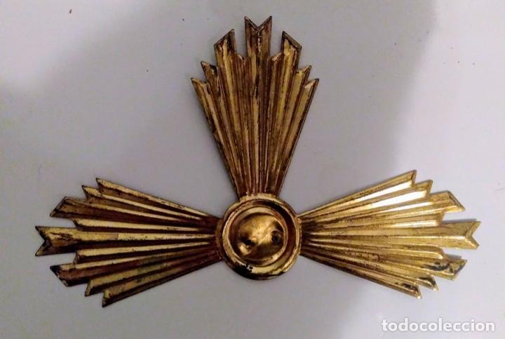 RESPLANDOR - CORONA DE LATON PARA IMAGEN LITÚRGICA (Antigüedades - Religiosas - Ornamentos Antiguos)
