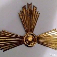 Antigüedades: RESPLANDOR - CORONA DE LATON PARA IMAGEN LITÚRGICA. Lote 165797322