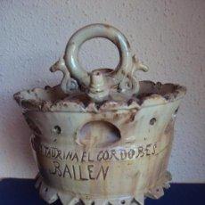 Antigüedades: (ANT-190580)BOTIJO PEÑA TAURINA EL CORDOBES - BAILEN. Lote 165823142