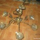 Antigüedades: OFERTA LAMPARA BRONCE DE TECHO PARA SALON. Lote 165838474
