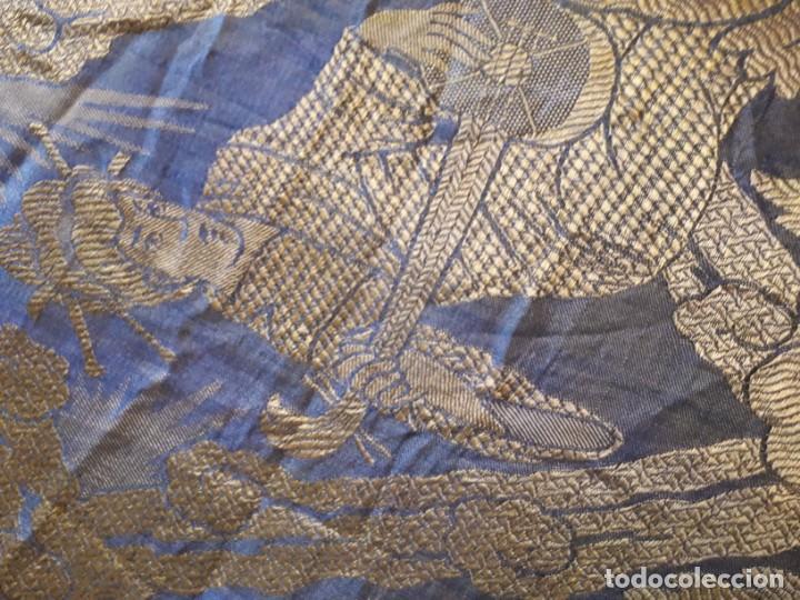 Antigüedades: Colcha antigua sedina chinesca. - Foto 2 - 165850110