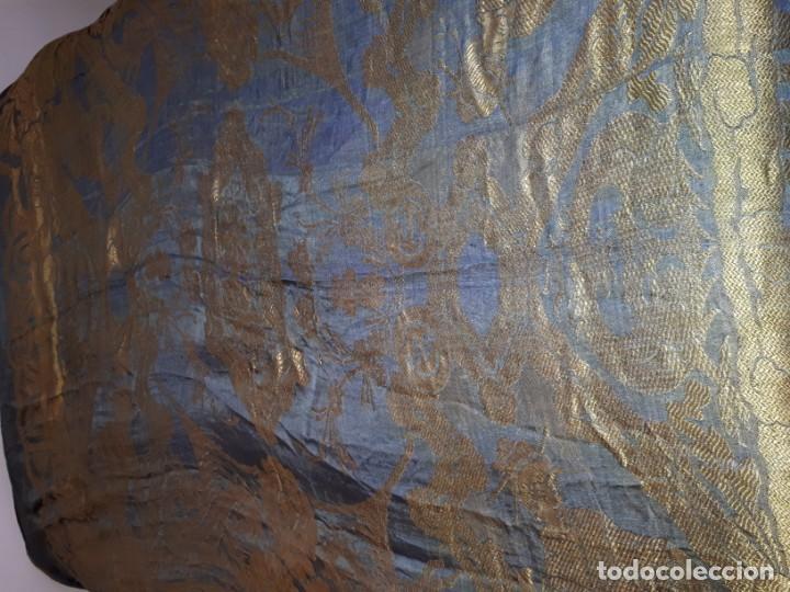 Antigüedades: Colcha antigua sedina chinesca. - Foto 3 - 165850110