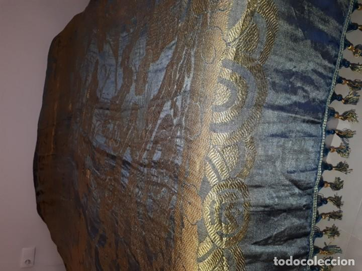 Antigüedades: Colcha antigua sedina chinesca. - Foto 5 - 165850110