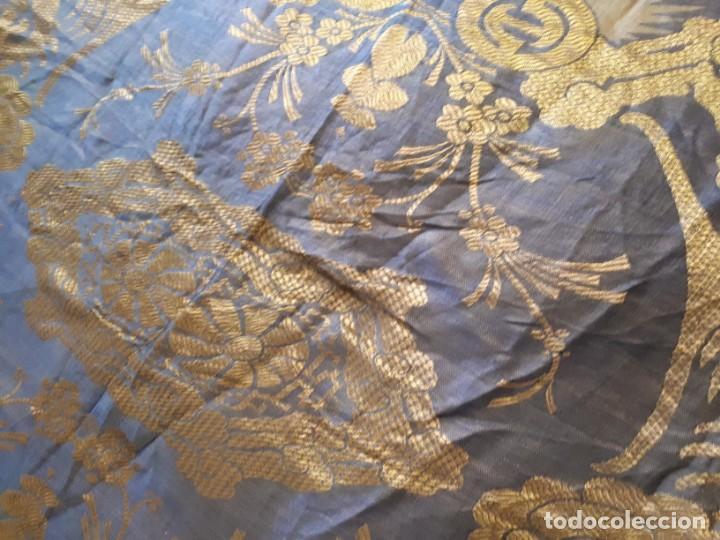 Antigüedades: Colcha antigua sedina chinesca. - Foto 8 - 165850110