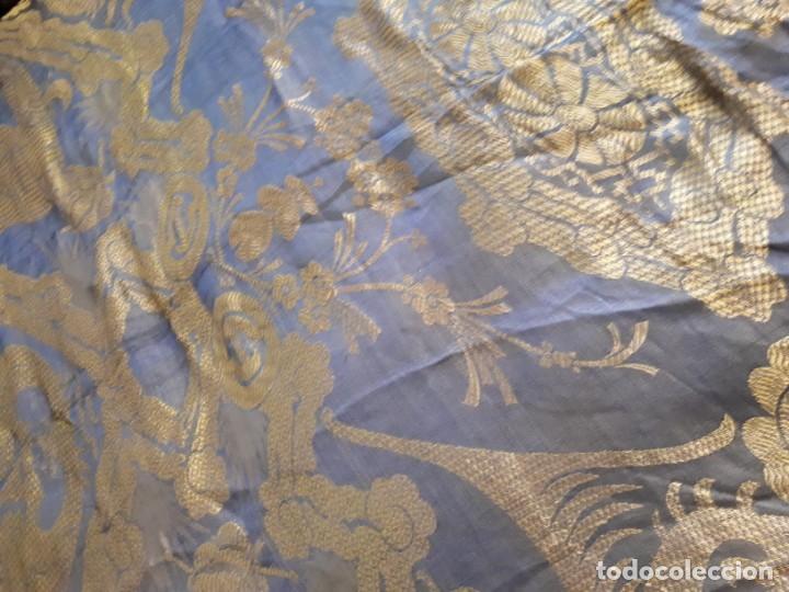 Antigüedades: Colcha antigua sedina chinesca. - Foto 9 - 165850110